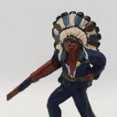 Figuras de Goma y PVC: ANTIGUA FIGURA DEL OESTE EN GOMA . GAMA. SERIE INDIOS Y VAQUEROS.. Lote 207338588