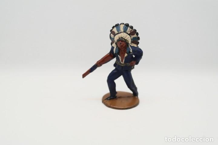 Figuras de Goma y PVC: Antigua Figura del Oeste en Goma . Gama. Serie Indios y Vaqueros. - Foto 3 - 207338588