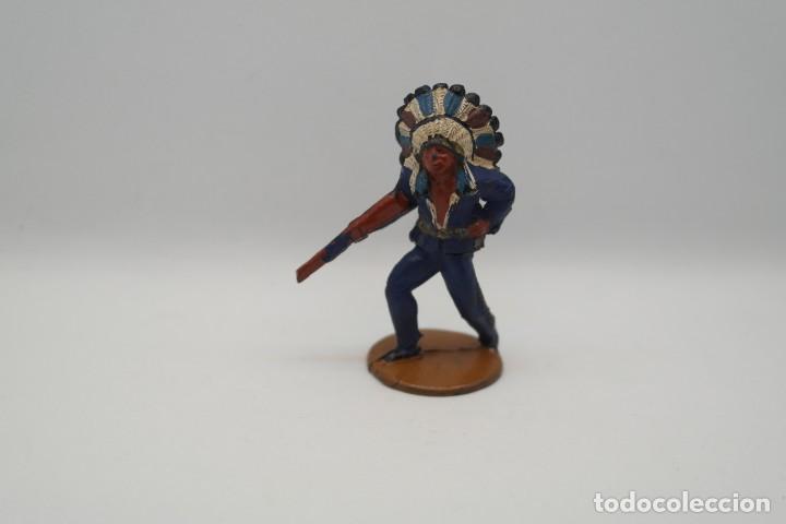 Figuras de Goma y PVC: Antigua Figura del Oeste en Goma . Gama. Serie Indios y Vaqueros. - Foto 5 - 207338588