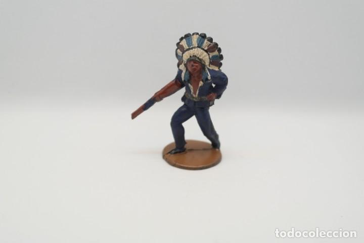 Figuras de Goma y PVC: Antigua Figura del Oeste en Goma . Gama. Serie Indios y Vaqueros. - Foto 6 - 207338588