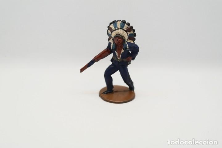 Figuras de Goma y PVC: Antigua Figura del Oeste en Goma . Gama. Serie Indios y Vaqueros. - Foto 7 - 207338588