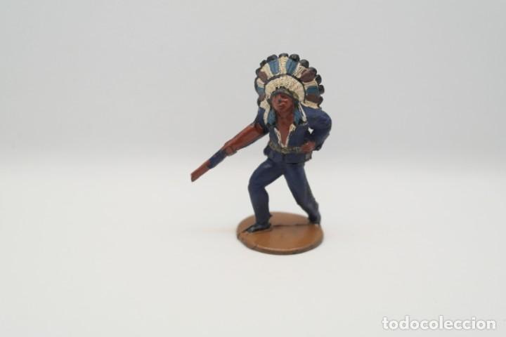 Figuras de Goma y PVC: Antigua Figura del Oeste en Goma . Gama. Serie Indios y Vaqueros. - Foto 9 - 207338588