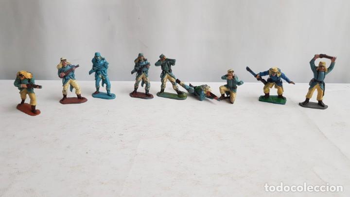 LOTE 9 SOLDADOS LEGION FRANCESA EXTRANJERA CON TARA. PECH (Juguetes - Figuras de Goma y Pvc - Pech)
