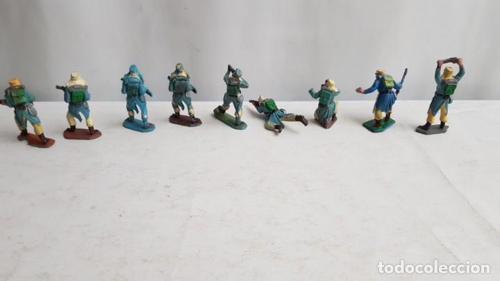 Figuras de Goma y PVC: Lote 9 soldados legion francesa extranjera con tara. Pech - Foto 2 - 207342608