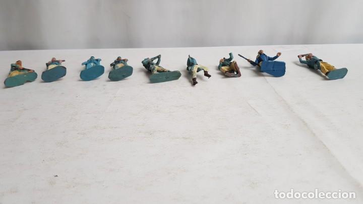 Figuras de Goma y PVC: Lote 9 soldados legion francesa extranjera con tara. Pech - Foto 3 - 207342608
