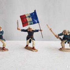 Figuras de Goma y PVC: LOTE 3 SOLDADOS FABRICADOS EN GOMA, LEGION FRANCESA EXTRANJERA. PECH. Lote 207343057
