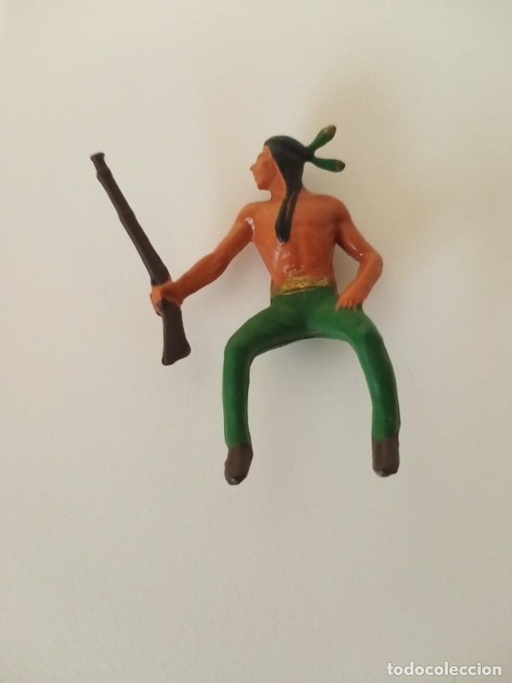 FIGURA INDIO AÑOS 60 (Juguetes - Figuras de Goma y Pvc - Pech)