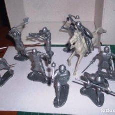 Figuras de Goma y PVC: 1/32 COMANSI PECH REAMSA CABALLEROS MEDIEVALES. PLASTIC SOLDIERS. Lote 207385007