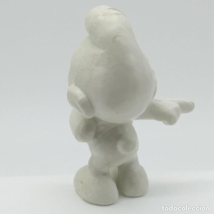 Figuras de Goma y PVC: Antiguo pitufo bromista años 80, sin pintar, rareza - Foto 2 - 207428497
