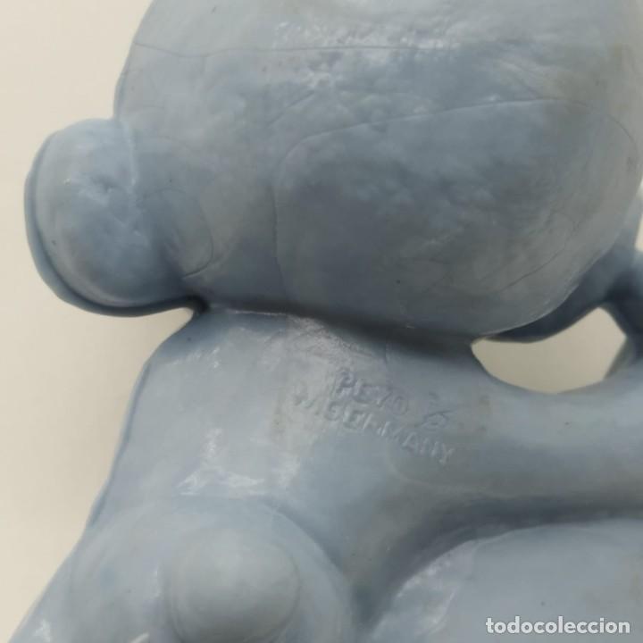 Figuras de Goma y PVC: Antiguo pitufo tocando el laúd años 80, sin pintar, rareza - Foto 3 - 207428603