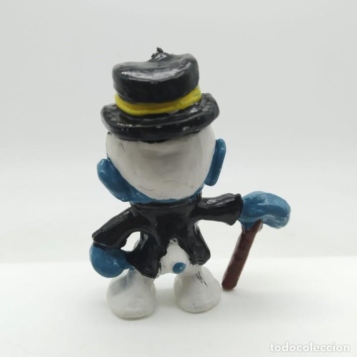Figuras de Goma y PVC: Antiguo pitufo ricachón años 80 - Foto 2 - 207443877