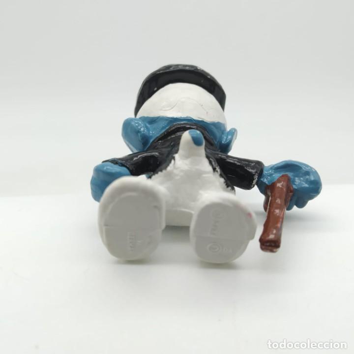 Figuras de Goma y PVC: Antiguo pitufo ricachón años 80 - Foto 3 - 207443877