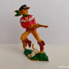 Figuras de Borracha e PVC: VAQUERO DE LAFREDO 8 CMS. AÑOS 60/70. BUEN ESTADO.. Lote 207518868