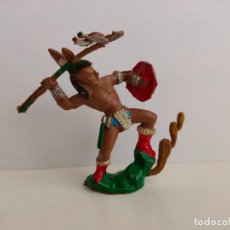 Figuras de Borracha e PVC: INDIO DE LAFREDO, SERIE 8 CMS. AÑOS 60/70. BUEN ESTADO.. Lote 207520088