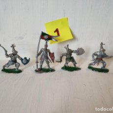 Figuras de Goma y PVC: LOTE 4 CABALLEROS MEDIEVALES. LAFREDO. Lote 207572877