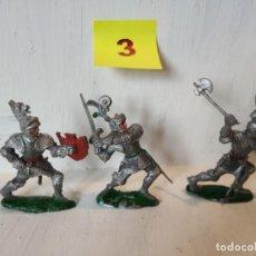 Figuras de Goma y PVC: LOTE 3 CABALLEROS MEDIEVALES, GRANDES. LAFREDO. Lote 207573068