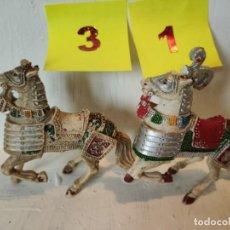 Figuras de Goma y PVC: LOTE 2 CABALLOS MEDIEVALES CON DEFECTO. LAFREDO. Lote 207573315