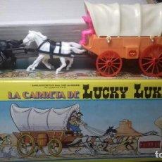 Figuras de Goma y PVC: COMANSI CARRETA LUCKY LUKE WAGON. EN CAJA DE CARTON. NUEVA SIN USO. Lote 207625047