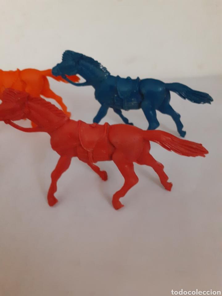 Figuras de Goma y PVC: LOTE CABALLOS VAQUEROS PLASTICO TIPO JECSAN ,REAMSA,PECH - Foto 2 - 207747645