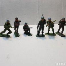 Figuras de Goma y PVC: FIGURAS JECSAN CASCOS AZULES LOTE 7 FIGURAS. Lote 207773290