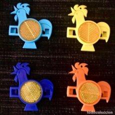 Figuras de Goma y PVC: LOTE 4 REFLECTANTES KELLOGGS CEREALES - REFLECTORES JUGUETE AÑOS 90. Lote 207819988