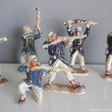 Figuras de Goma y PVC: LEGIÓN EXTRANJERA FRANCESA, PECH HNOS, AÑOS 50, SOLDADOS LEGIONARIOS (6) HECHOS DE GOMA.. Lote 208075671