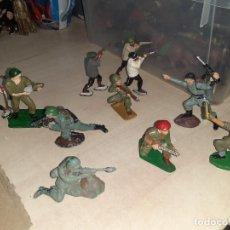 Figuras de Goma y PVC: LOTE DE 11 SOLDADOS DE LA 2ª GUERRA MUNDIAL.REAMSA.. Lote 208309006