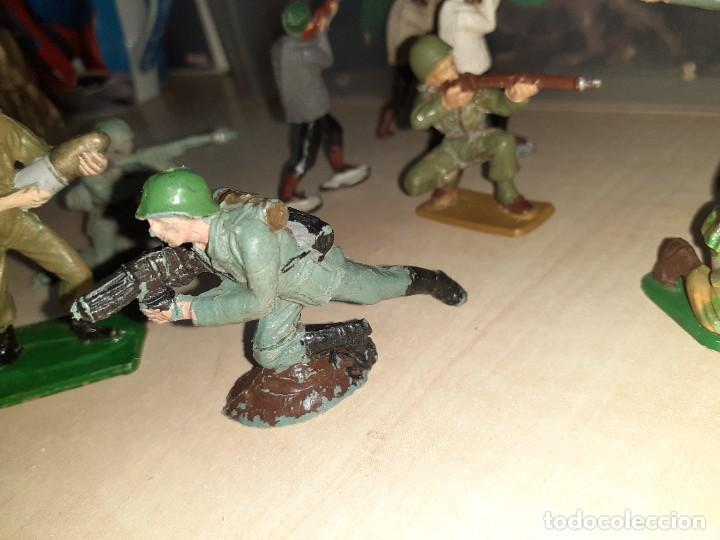 Figuras de Goma y PVC: Lote de 11 soldados de la 2ª Guerra Mundial.Reamsa. - Foto 6 - 208309006