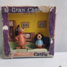 Figuras de Goma y PVC: CAJA DE EL GRAN CANUTO Y CANITO HUMORISTICOS DE LA T.V. JECSAN. Lote 208328275
