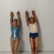 Figuras de Goma y PVC: FIGURAS TRAPECISTAS EN GOMA DEL CIRCO DE JECSAN. Lote 208386862