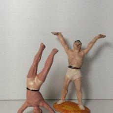 Figuras de Goma y PVC: FIGURAS EQUILIBRISTAS EN GOMA DEL CIRCO DE JECSAN. Lote 208386921