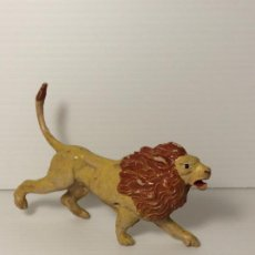 Figuras de Goma y PVC: FIGURA LEON EN GOMA DEL CIRCO DE JECSAN. Lote 208387432