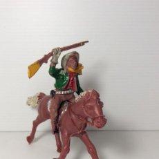 Figuras de Goma y PVC: FIGURA COWBOY A CABALLO EN PLASTICO 6 CMS DE LAFREDO. Lote 208423661