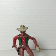 Figuras de Goma y PVC: FIGURA COWBOY 2 EN PLASTICO 6 CMS DE LAFREDO. Lote 208424580