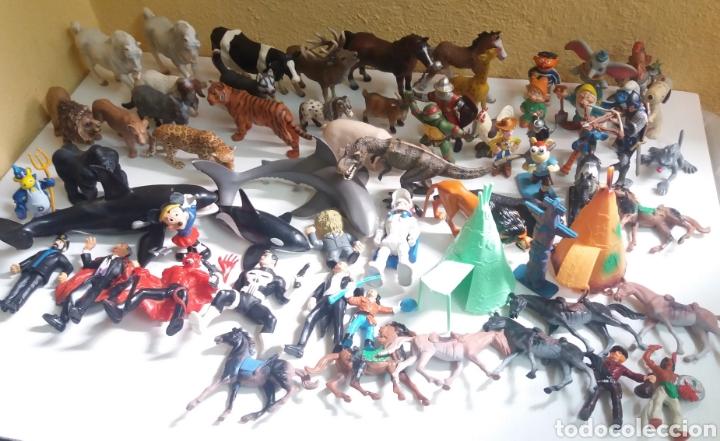 GRAN LOTE DE FIGURAS DE GOMA, 64 EN TOTAL, VARIAS MARCAS (Juguetes - Figuras de Goma y Pvc - Schleich)