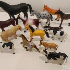 Figuras de Goma y PVC: LOTE ANIMALES CABALLOS VACAS GOMA O PVC.. Lote 208789925
