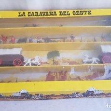 Figuras de Goma y PVC: GRAN CAJA DE LA CARAVANA DEL OESTE. REAMSA.. Lote 208982965
