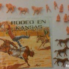 Figuras de Goma y PVC: MONTAPLEX - HOBBY PLAST - RODEO EN KANSAS - SOBRE ABIERTO Y CONTENIDO. Lote 209066580
