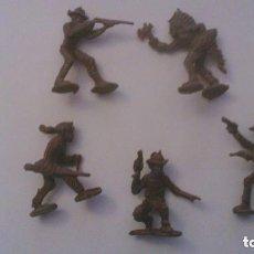 Figuras de Goma y PVC: MONTAPLEX - HOBBY PLAST - FIGURAS DEL OESTE. Lote 209066610
