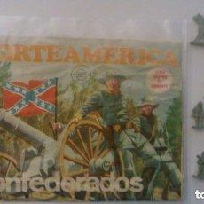 Figuras de Goma y PVC: MONTAPLEX - NORTEAMERICA CONFEDERADOS - SOBRE ABIERTO Y GRUPO DE COMBATE. Lote 209066986