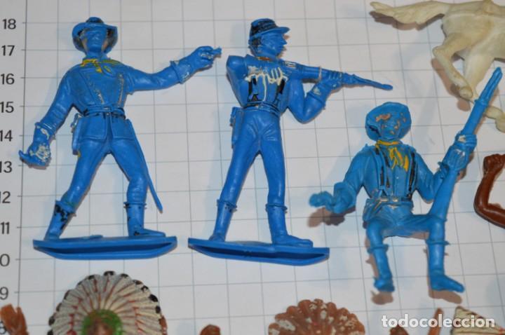 Figuras de Goma y PVC: SOLDADOS / INDIOS / Antiguos - Plástico / PVC - Reamsa, Gomarsa, Jecsan, Comansi, otros ... ¡Mira! - Foto 2 - 209138036