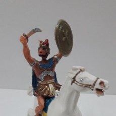 Figuras de Goma y PVC: EGIPCIO A CABALLO - ESCUDO DESMONTABLE . REALIZADO ESTEREOPLAST . SERIE EL JABATO . ORIGINAL AÑOS 60. Lote 209156023