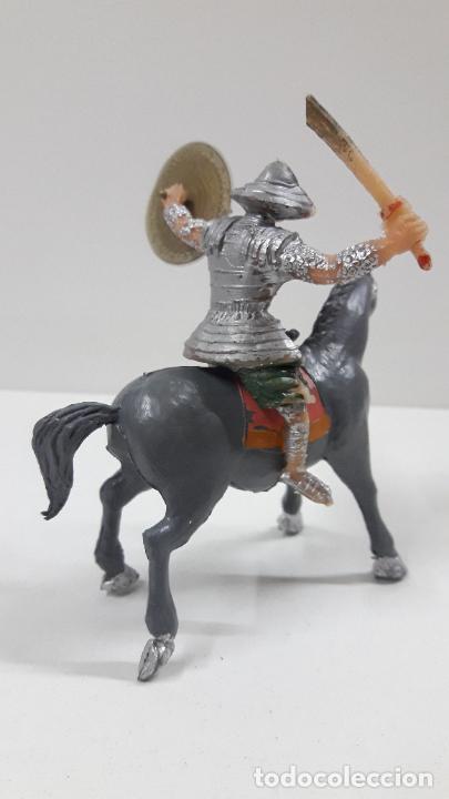 Figuras de Goma y PVC: SAMURAI A CABALLO - ESCUDO DESMONTABLE . REALIZADO ESTEREOPLAST . SERIE EL JABATO . ORIGINAL AÑOS 60 - Foto 5 - 209156246