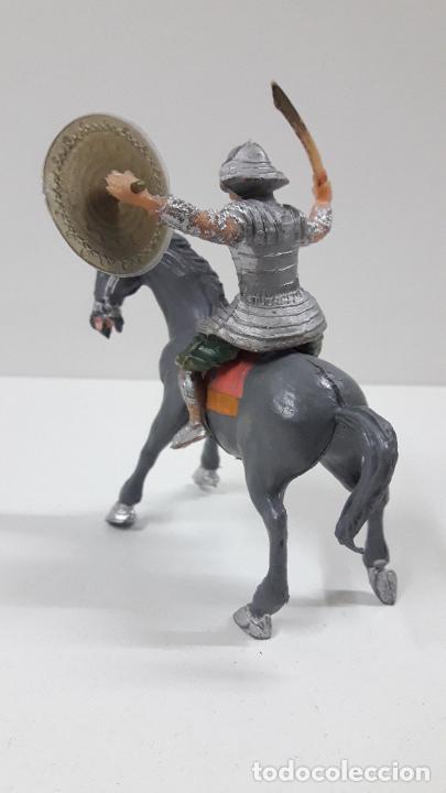 Figuras de Goma y PVC: SAMURAI A CABALLO - ESCUDO DESMONTABLE . REALIZADO ESTEREOPLAST . SERIE EL JABATO . ORIGINAL AÑOS 60 - Foto 6 - 209156246