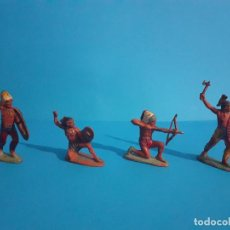 Figuras de Goma y PVC: LOTE PIELES ROJAS EN GOMA AÑOS 50. PECH. Lote 209167548