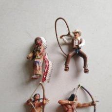 Figuras de Goma y PVC: LOTE DE 4 FIGURAS SCHLEICH VARIADAS. Lote 209236320