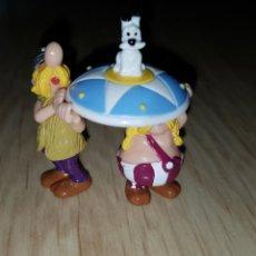 Figurines en Caoutchouc et PVC: FIGURA KINDER ASTERIX Y OBELIX GALOS CON PERRO MUÑECO COLECCIÓN MUY DIFÍCIL. Lote 209351116