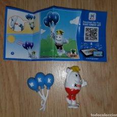 Figuras de Borracha e PVC: FIGURA KINDER 50 ANIVERSARIO KINDERINO FIESTA SE301 +BPZ MUÑECO COLECCIÓN SORPRESA PREMIUM. Lote 209354735
