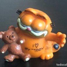 Figuras de Goma y PVC: GARFIELD GATO CON OSITO - FIGURA MUÑECO PVC - BULLY - AÑOS 80. Lote 209415741