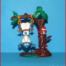 Figuras de Goma y PVC: PITUFOS SCHLEICH 40237 SUPER PITUFO CON TRAPECIO * RARISIMO *. Lote 209687290
